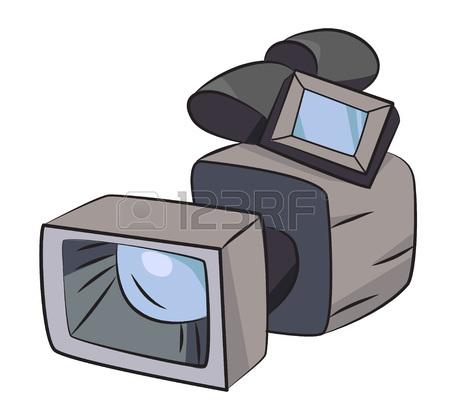 450x420 Cartoon Image Of Video Camera. Camera Symbol Royalty Free Cliparts