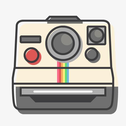 512x512 A Polaroid Camera, Polaroid, Camera, Cartoon Png Image For Free