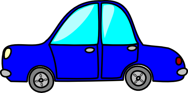 600x299 Cartoon Blue Car Clip Art