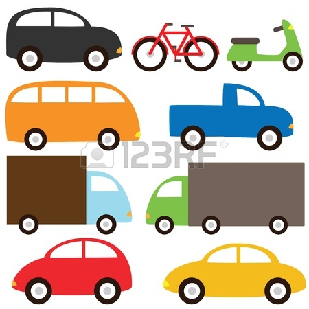 450x450 Transport Set With Cartoon Cars Royalty Free Cliparts, Vectors