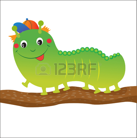 449x450 Cartoon Funny Caterpillar Characters In Two Variations, Isolated