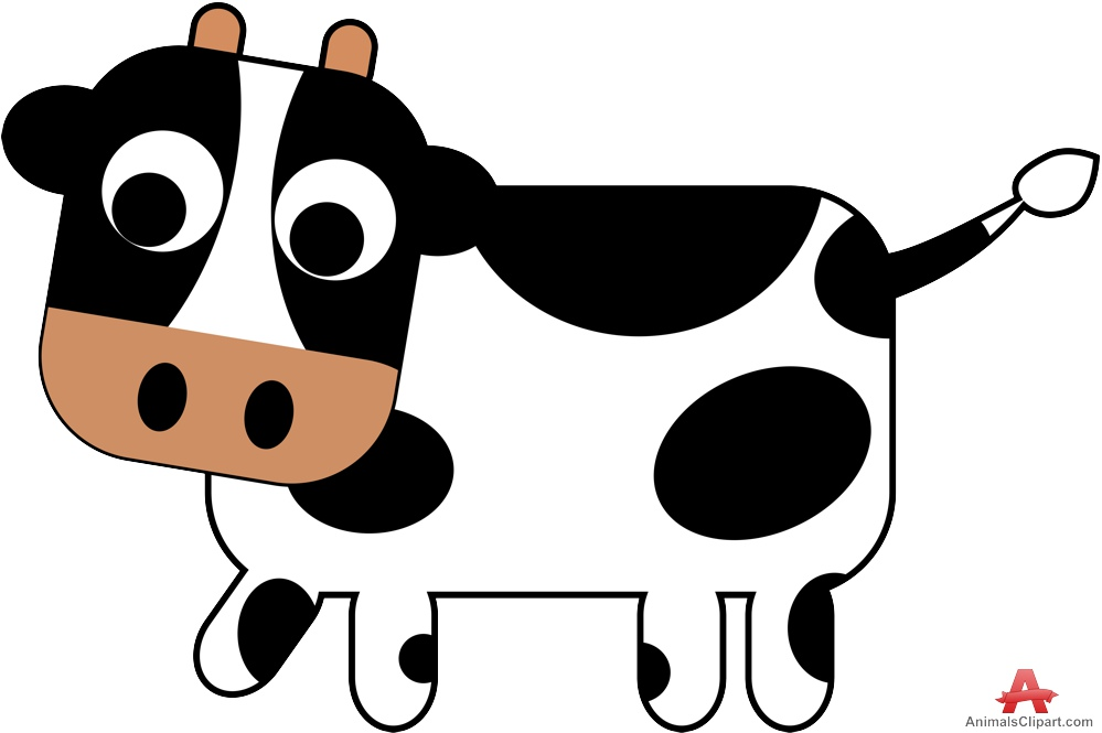 999x665 Cow Clipart Animated