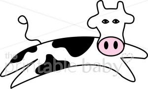 300x181 Jumping Cow Cartoon Clipart Barnyard Clipart