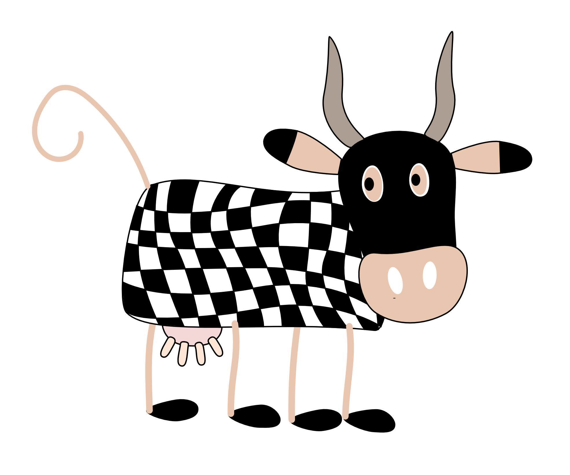 1969x1639 Open Clipart Cartoon Cow