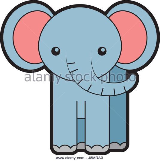 534x540 Pink Elephant Cartoon Stock Photos Amp Pink Elephant Cartoon Stock
