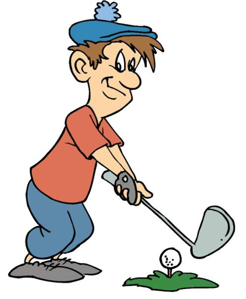 500x606 Cold clipart golfer