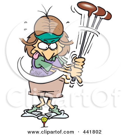 450x470 Funny Ladies Golf Clip Art