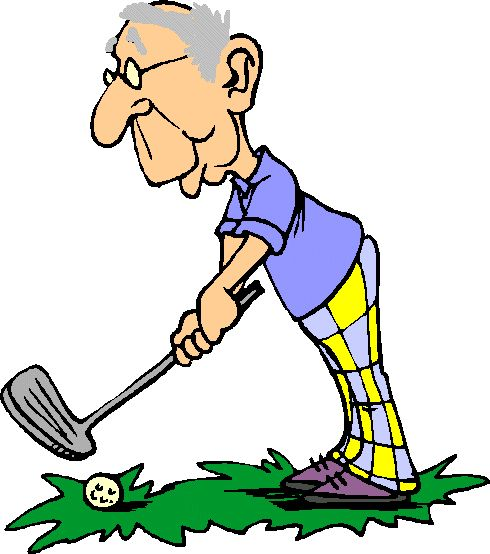 490x554 Golf Cartoon Clipart