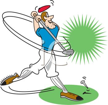 Golf illustration. Pictures of cartoon golfers
