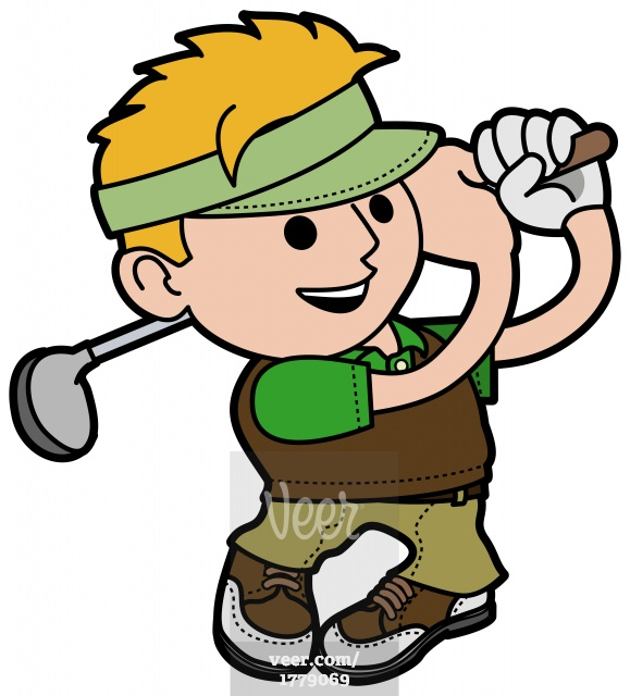 579x640 Pictures Of Cartoon Golfers