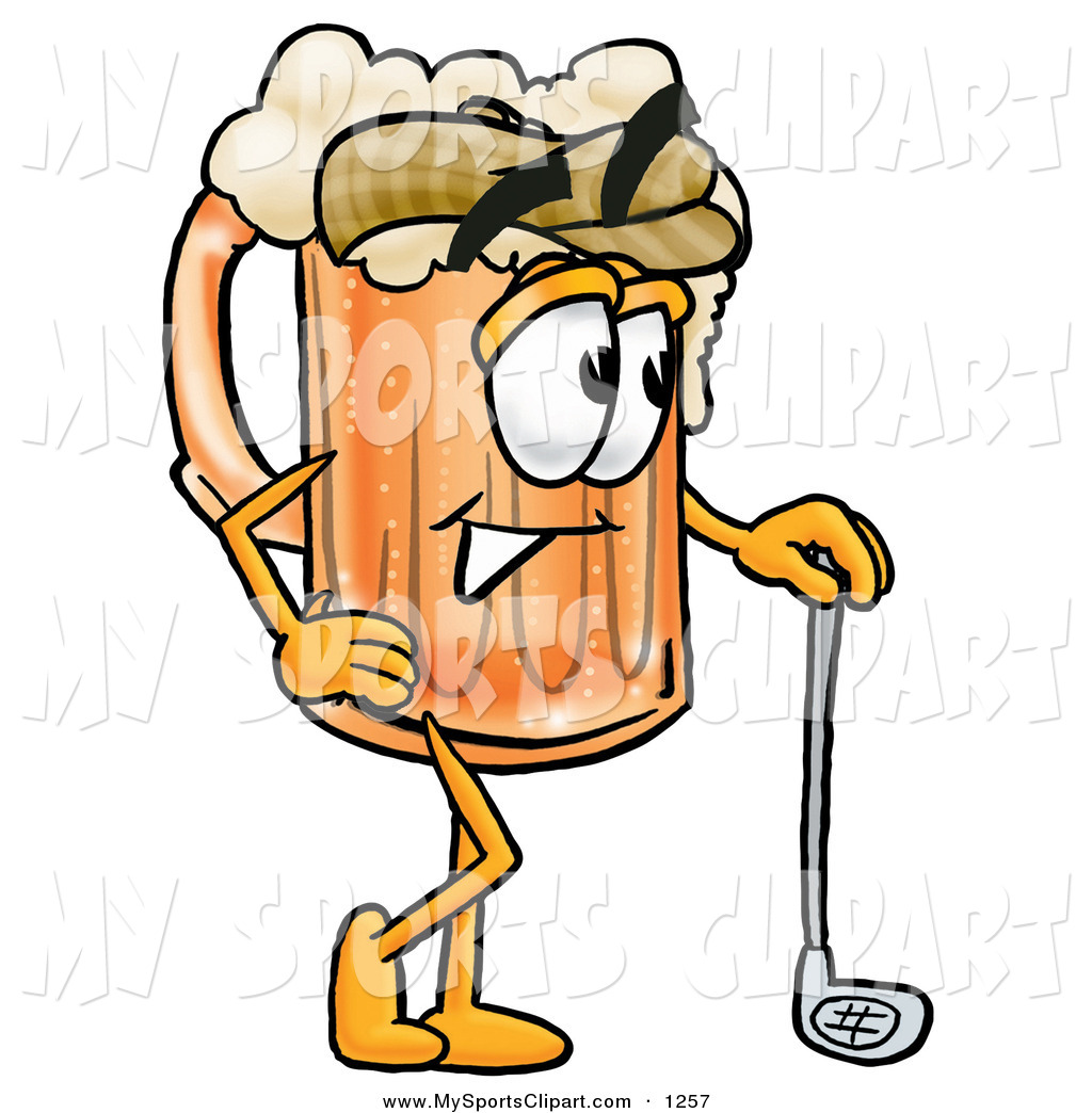 1024x1044 Sports Clip Art Of A Golfer Beer Mug Mascot Cartoon Character