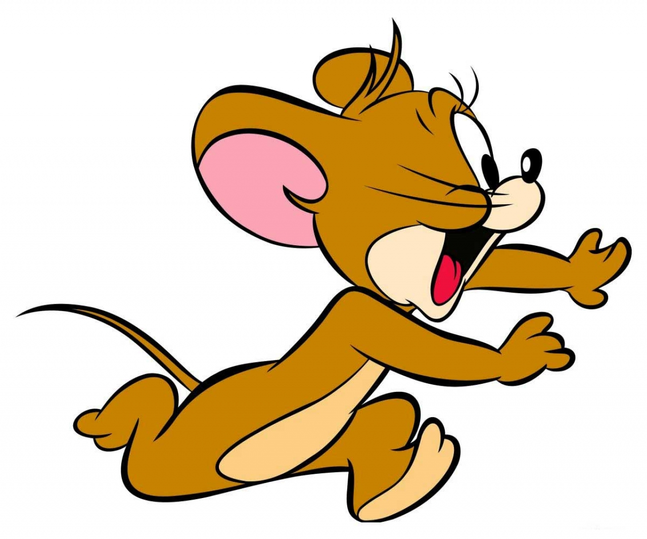 1280x1066 Cartoon wallpapers jerry the mouse running and shouting