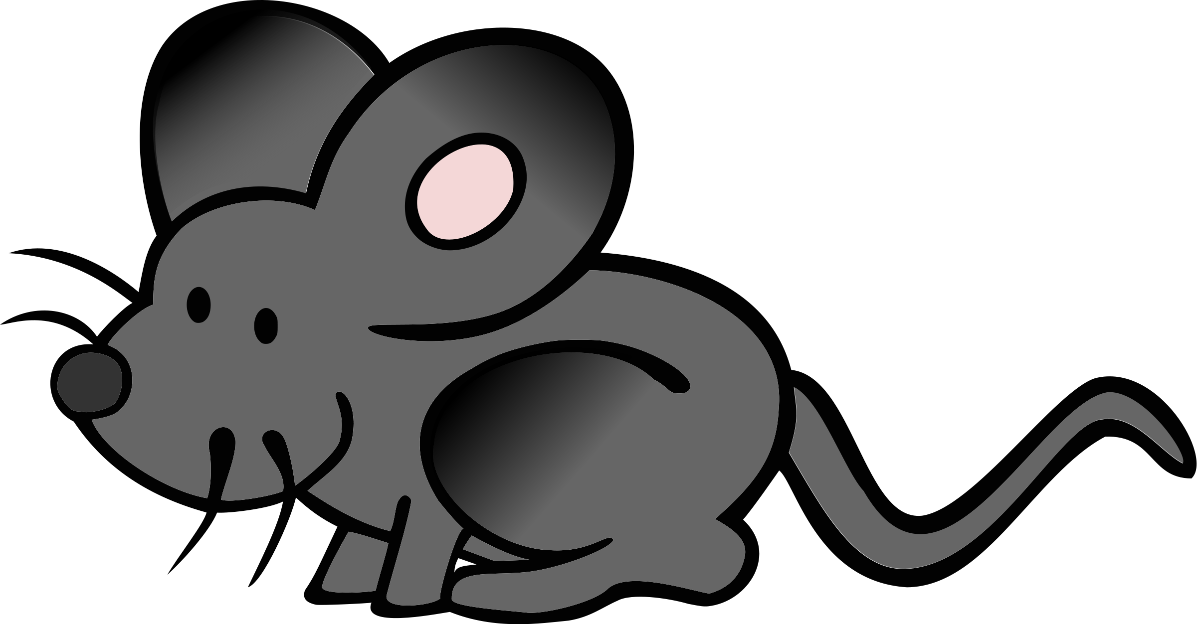2400x1252 Mouse clipart cartoon