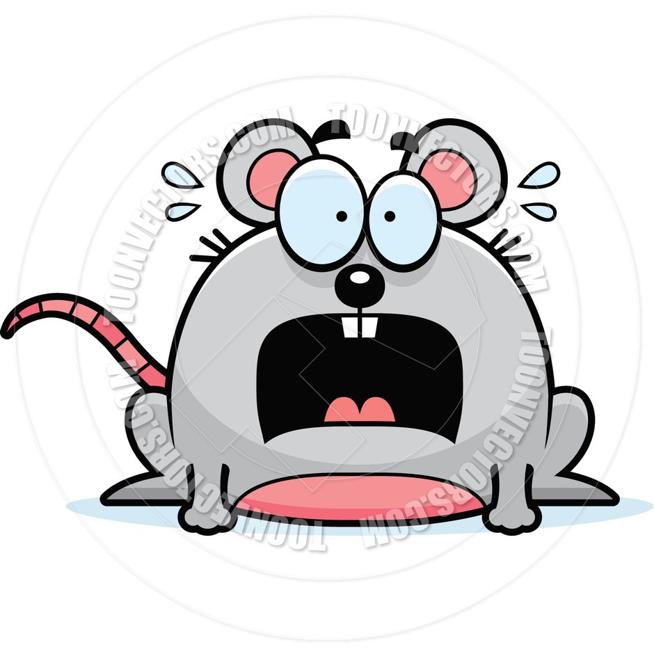 940x940 Cartoon Little Mouse Scared by Cory Thoman Toon Vectors EPS