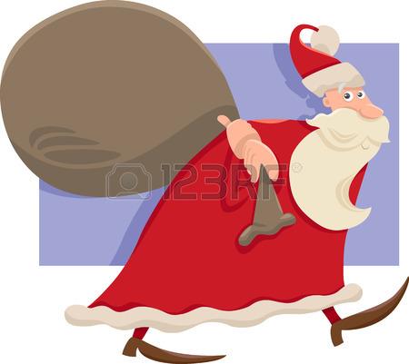 450x401 Cartoon Illustration Of Funny Santa Claus Or Papa Noel Juggling