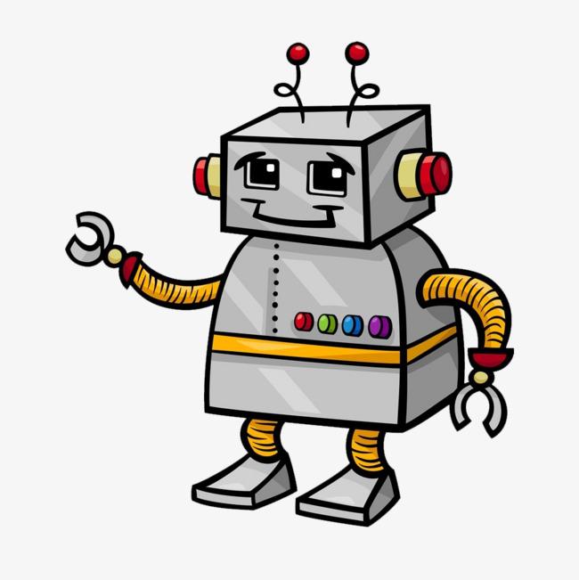 650x651 Hand Painted Robot Material, Robot, Robot Material, Cartoon Robots