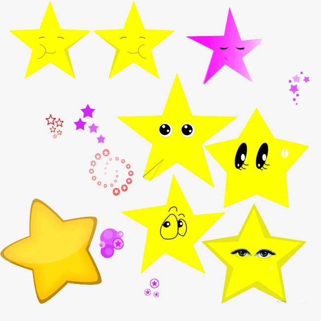 650x650 Q Version Of The Cartoon Stars, Cartoon Stars, Yellow Star, Hand