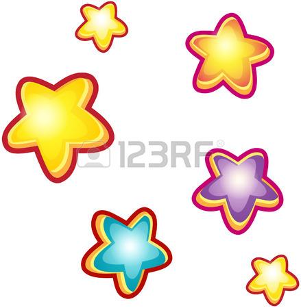 439x450 Set Of Cartoon Stars Royalty Free Cliparts, Vectors, And Stock