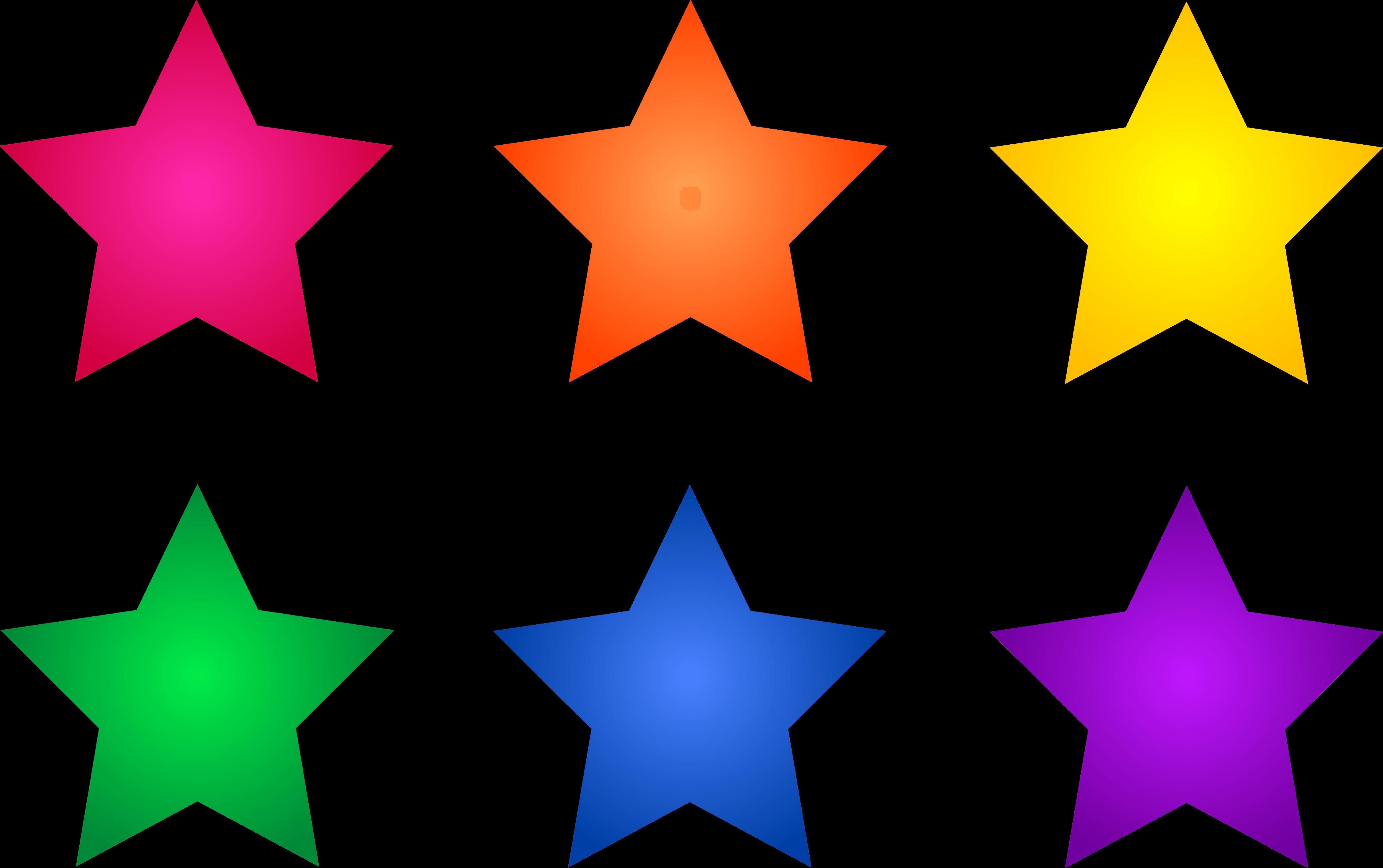 5000x3139 Star Color Cliparts