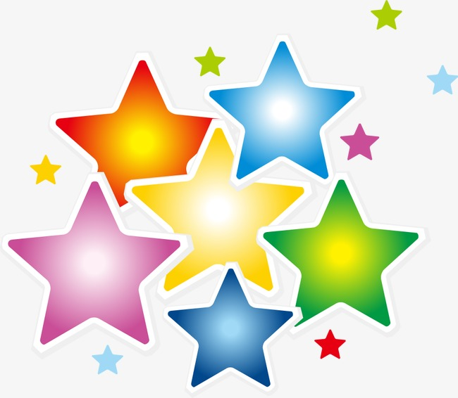 650x566 Colorful Cartoon Stars, Cartoon, Multicolored, Star Png And Vector