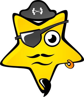 348x400 Star Pirate Patch