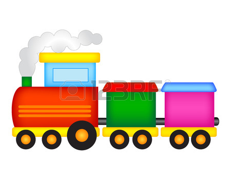 450x350 Cute Colorful Kids Toy Train Isolated On White Background