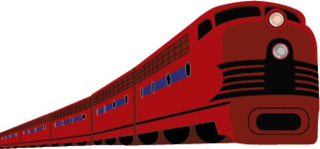 626x291 Modern Train Cartoon In Red Vector Vector Free Download