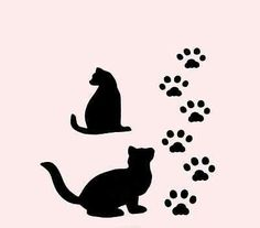 236x207 Cat Paw Print Pattern. Use The Printable Outline For Crafts