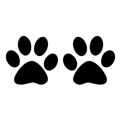 400x400 Dog Paw Prints Silhouette Illustration Animal Background Clipart
