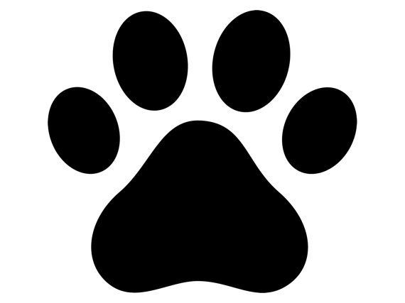 570x427 Paw Print Decal Paw Print Sticker Outdoor Vinyl Dog Paw Printr