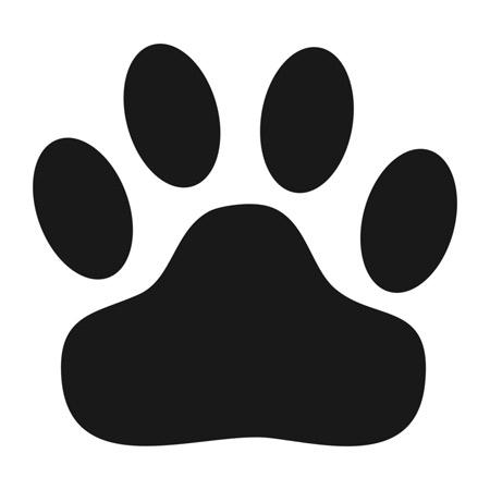 450x450 Stencils Super Sized Wild Cat Paw Print Stencil