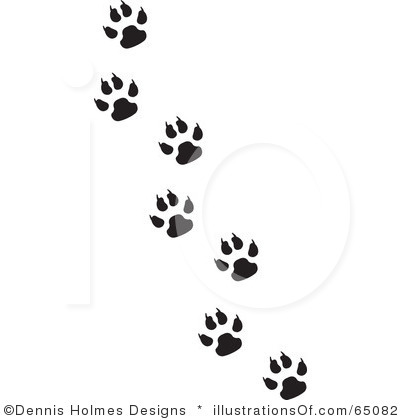 400x420 Paw Print Fisher Cat Paw Prints Badger Tattoos