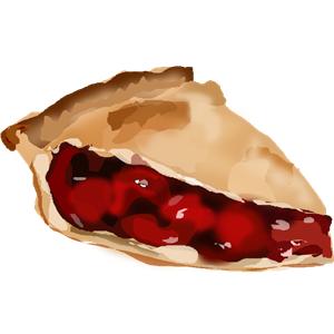 300x300 Slice Of Cherry Pie. Clipart, Cliparts Of Slice Of Cherry Pie