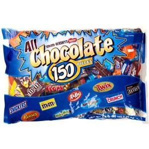 300x300 Lbs Big Chocolate Candy Bag 150 Bars Hershey's Nestle Reeses