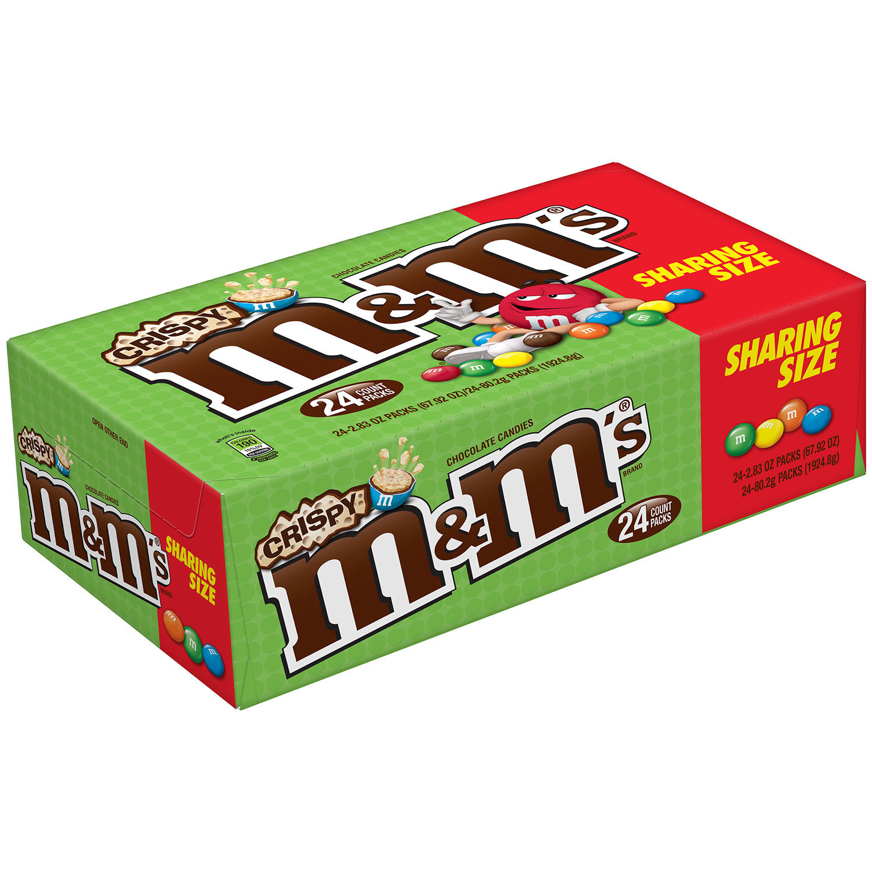 1500x1500 Mampm's Crispy Sharing Size 24 Packags 2.83 Oz Chocolate Candy Ebay