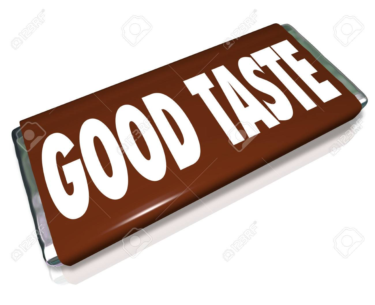 1300x1057 A Brown Chocolate Candy Bar Wrapper With The Words Good Taste