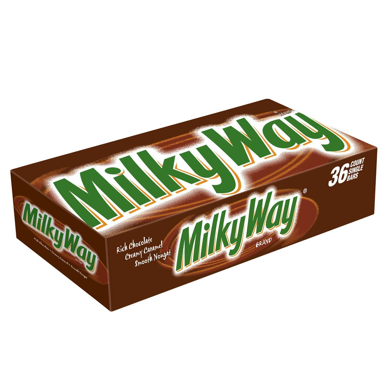 1500x1500 Milky Way Milk Chocolate Singles Size Candy Bars 1.84