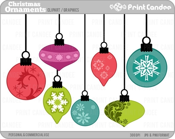 570x453 Hanging Christmas Ornaments Clipart