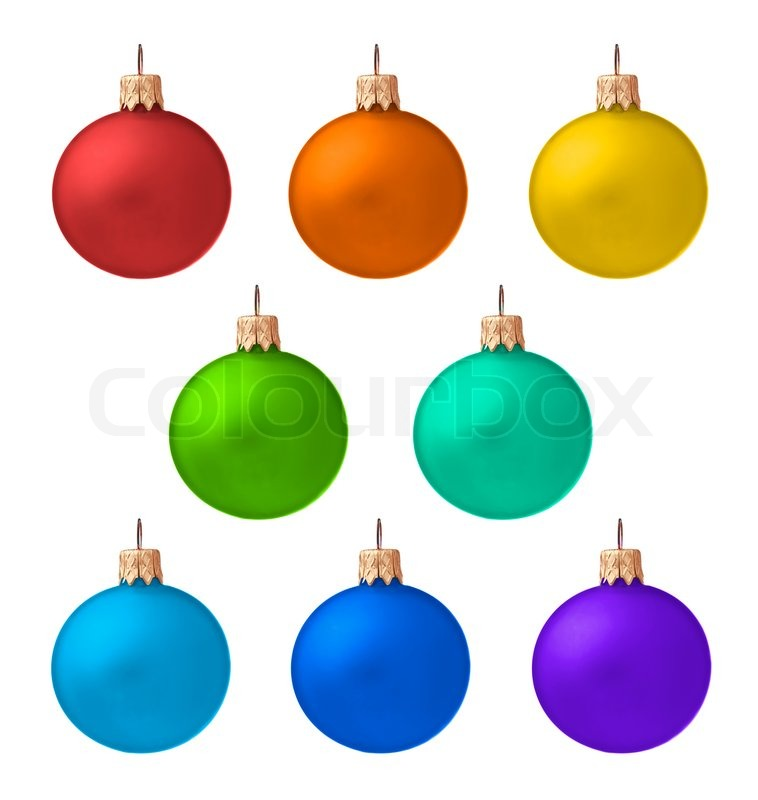 758x800 Set of christmas ornaments isolated on white background Stock