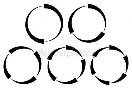 450x304 Concentric Segments Of Circles Stock Vectors, Royalty Free