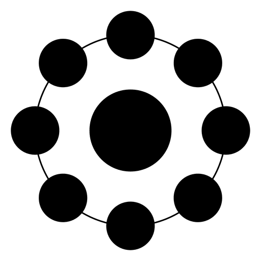 512x512 Geometrical Shape Made Of Circles And Dots