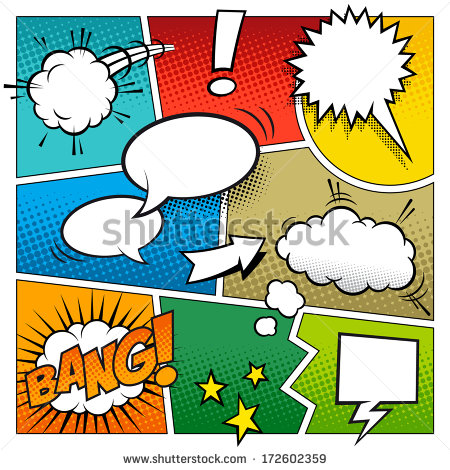 450x470 A High Detail Vector Mock Up Of A Typical Comic Book Page