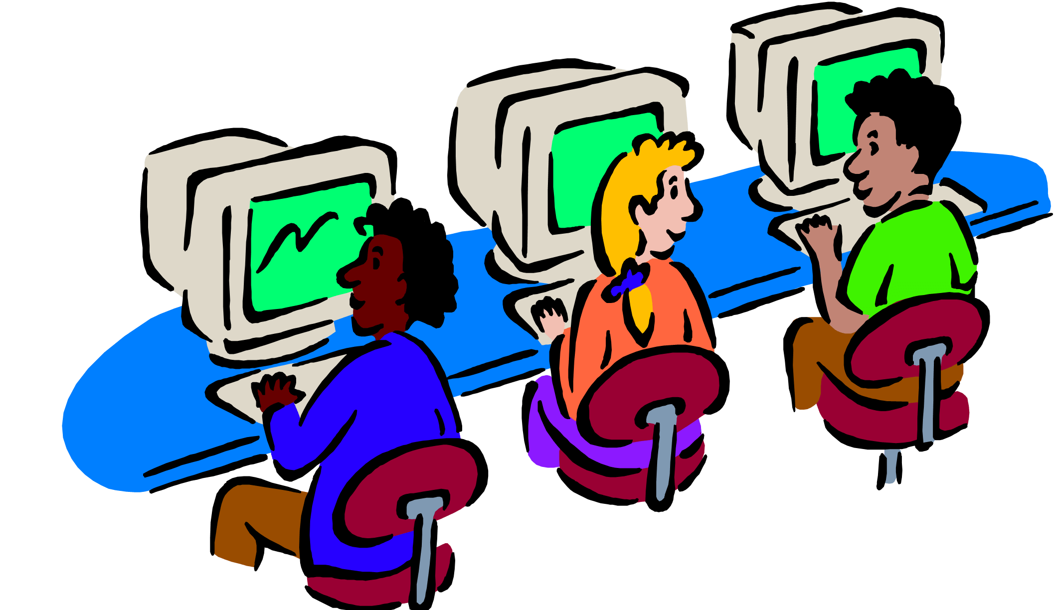 2118x1224 Computers Class Cliparts