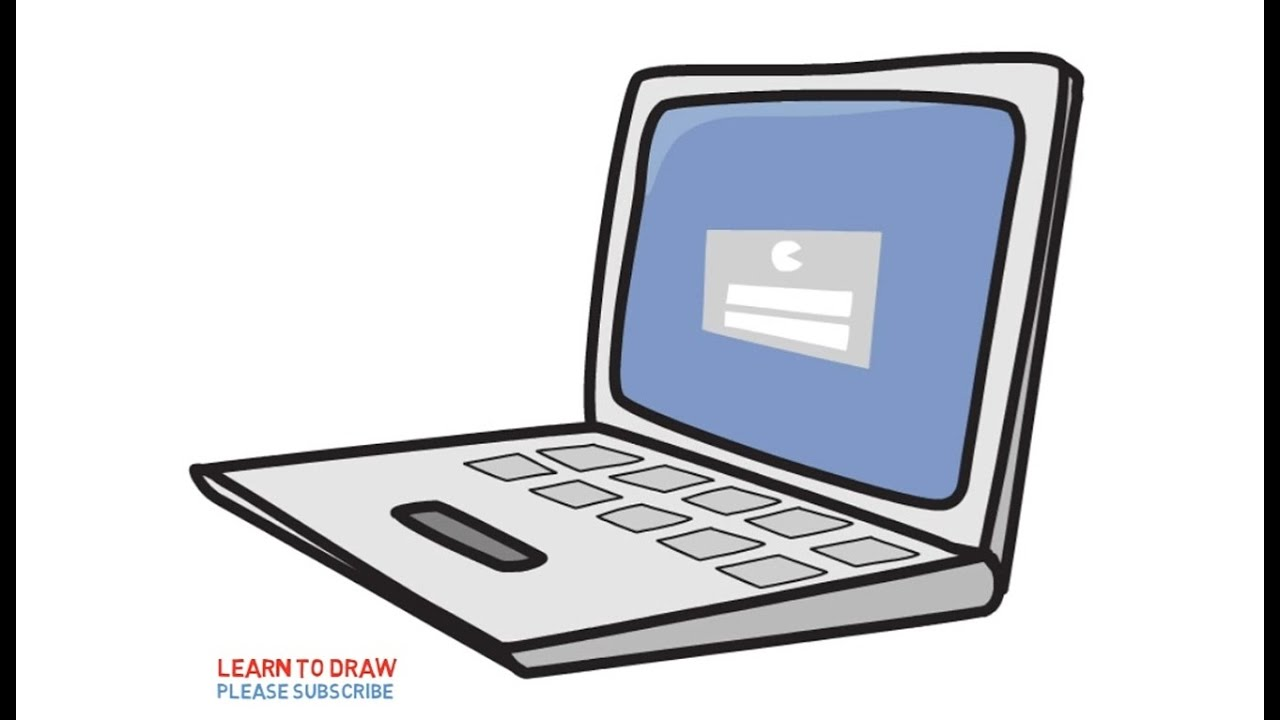 1280x720 How To Draw A Laptop Computers For Kids Step By Step