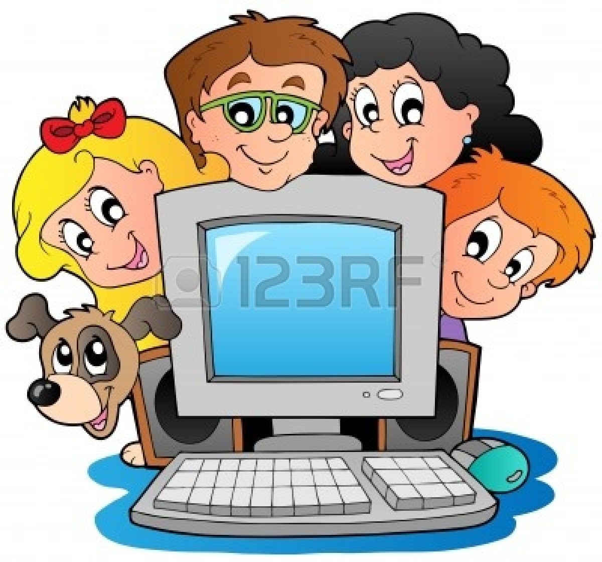 1200x1119 Kids On Computers Images Clipart