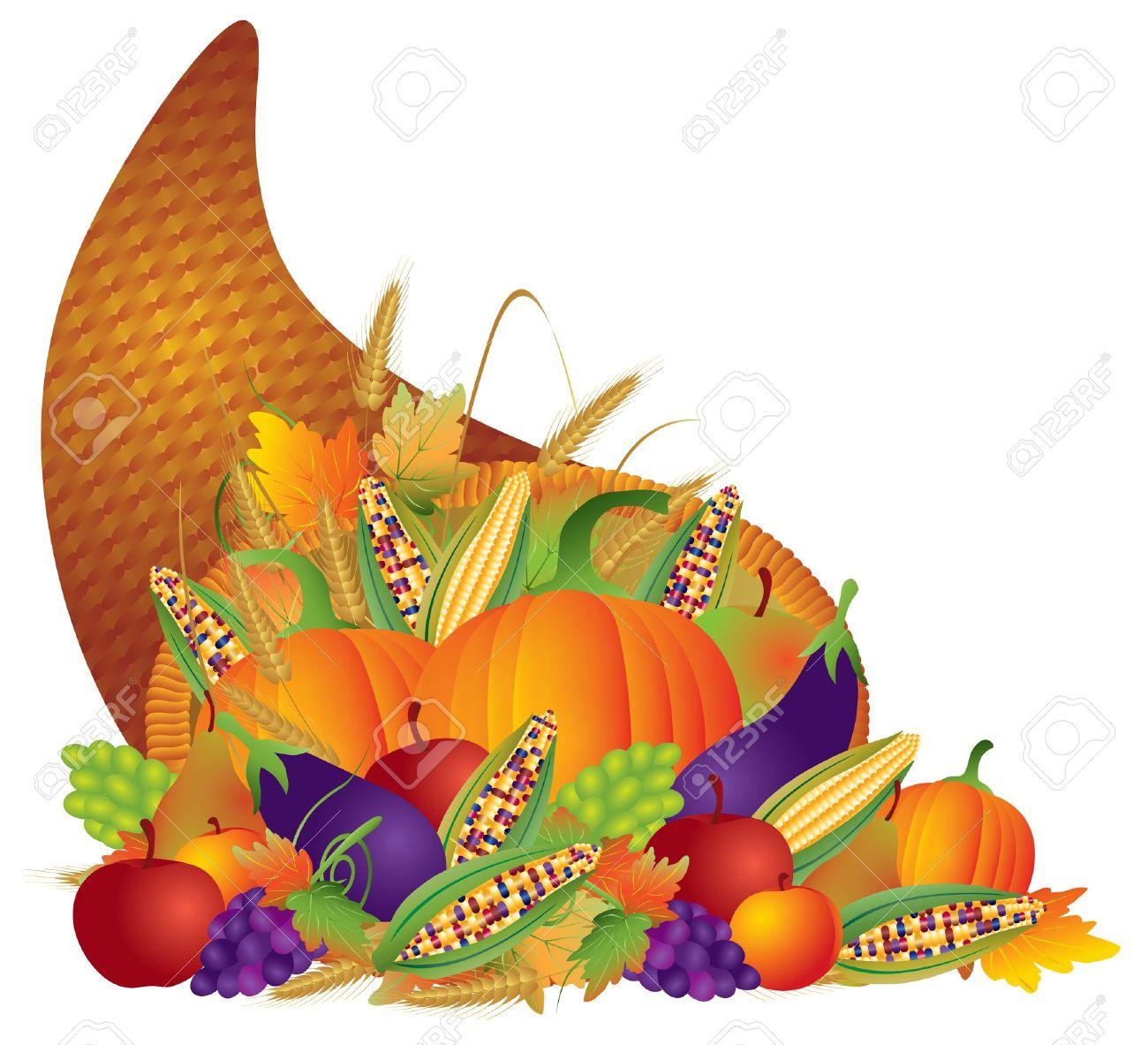 1300x1183 Cornucopia Clipart Fruits And Vegetable