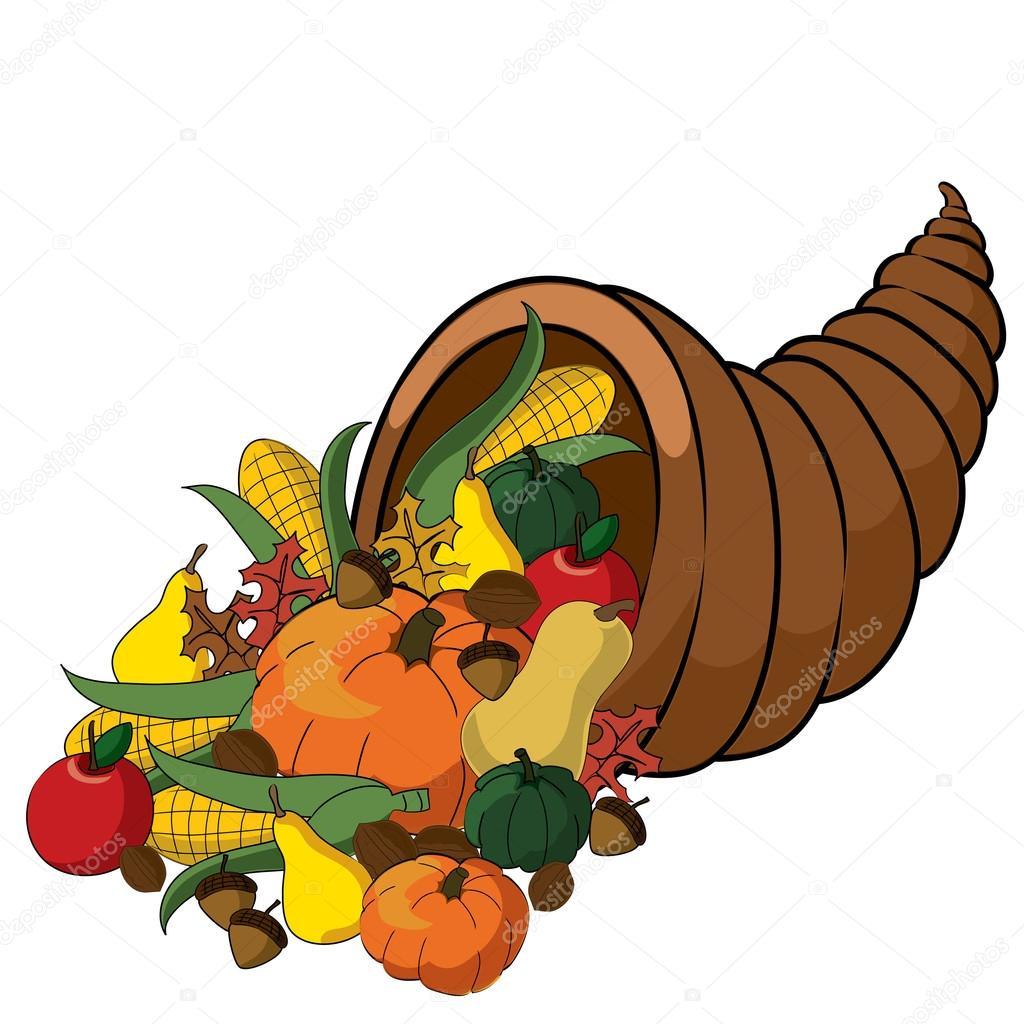 1024x1024 Cornucopia Clipart Thanksgiving Basket