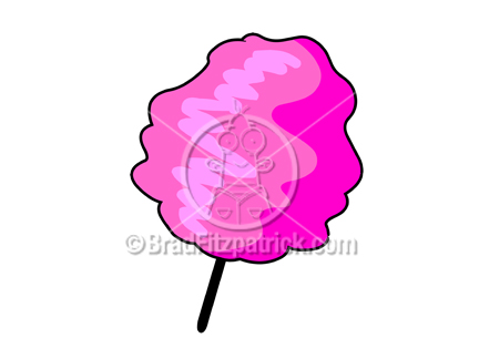432x324 Cartoon Cotton Candy Clip Art Royalty Free Cotton Candy Clipart