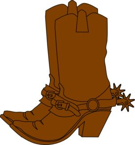 276x297 Clipart Cowboy Boots