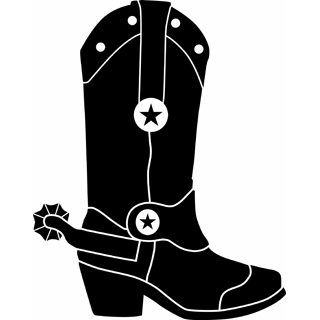 320x320 Cowboy Boots Clipart Black And White Free 2